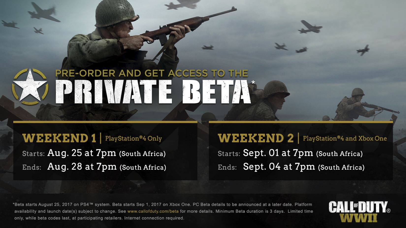 The Call of Duty: WWII Private Multiplayer Beta kicks off today.