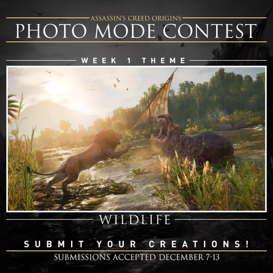 Show off your picture taking skills and win with Assassins Creed: Origins.
