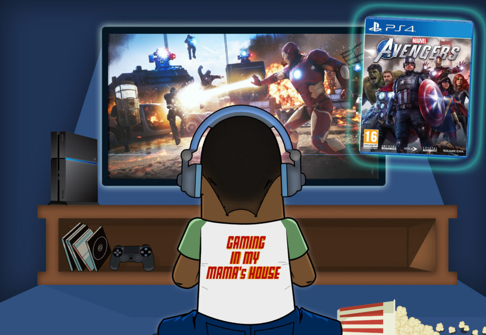 GAMING IN MY MAMA'S HOUSE (MARVEL'S AVENGERS)